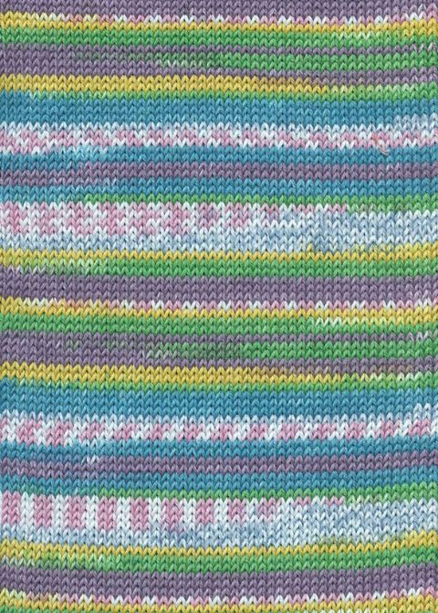 Lang Yarns BABY COTTON COLOR 178 turquoise fairisle print